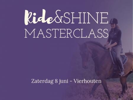 Ride&Shine Masterclass 8 juni